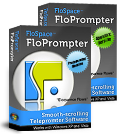 FloSpace FloPrompter comes in two versions: Standard and Professional