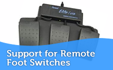 Support for Programmable Foot Switches