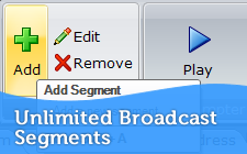 Unlimited Broadcast Segments (Scripts)