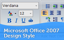 Beautiful Microsoft Office 2007 Design Style